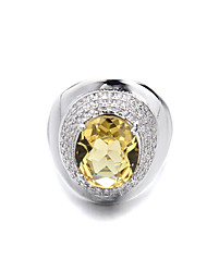 Brass Beautiful Ladies  CZ Fashion Ring(More Colors)