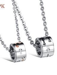OPK®Fashion Sex Symbol High Quality Titanium 18 K Electroplating Diamond Lovers Necklace Love Gift