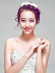 Elegant Lace Petal/Rhinestones Wedding/Party Bridal Headpieces with Imitation Pearls