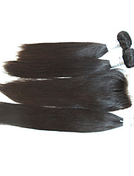 "4Pcs Lot 10""-28"" Peruvian Human Hair Extensions with Closure 6A Grade Remy Hair Soft Virgin Hair Top Quality"