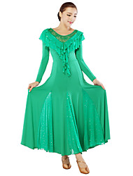 High-quality Milk Fiber Ballroom Dance Dresses for Women's Performance