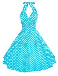 licol 50s de Maggie Tang femmes pois ménagère rockabilly swing robe vintage, plus la taille