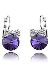 Earring Stud Earrings Jewelry Women Gemstone & Crystal / Alloy 2pcs White / Purple
