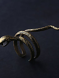 Fashion Vintage Man'S Alloy Gold Plated Snake Shape  Ring