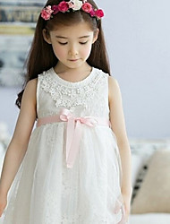 Girl's Lace Bow Princess Dress