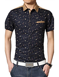 Men's Fashion Slim Flower Shirt
