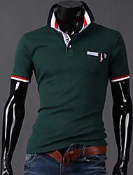 GZZG Men's Casual Square Short Sleeve T-Shirts (Organic Cotton)
