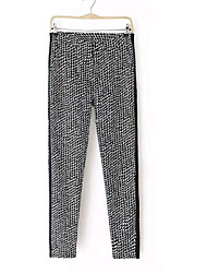 Women's Europe Casual 100% Cotton High Waist Long Pants
