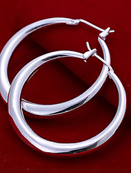 Hoop Earrings Copper Silver Plated Fashion Silver Jewelry Party Daily Casual 2pcs