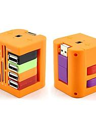 usb combo 6 puertos USB 2.0 hub + lector de tarjetas usb múltiples todo en uno para SD / MMC / m2 / ms / pf pro duo
