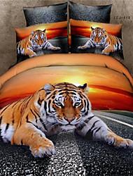 3D Tiger Duvet Cover Set Queen Bedding Set