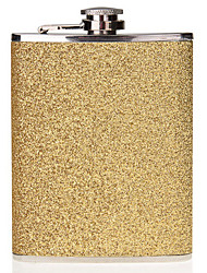 8oz Stainless Steel Alcohol Drink Liquor Whisky Hip Flask Gold