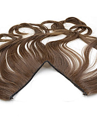 20inch #8 Ash Brown Halo Hair Extensions Synthetic Flip in Hair Extensions Best Quality 005