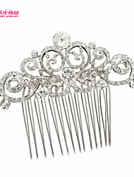 Neoglory Jewelry Alloy and Clear Rhinestone Hair Combs for Lady Bridal/Wedding/Daily/Party