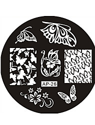 Nail Art Stamp Stamping Image Template Plate AP Series NO.26