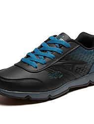 Men's Running Shoes Leather Black/Blue/White