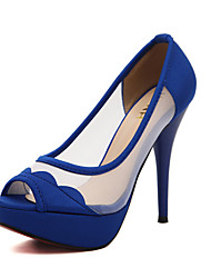 Women's Shoes Synthetic Stiletto Heel Peep Toe Pumps with Split Joint Shoes More Colors available