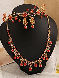 Women's Imitation Pearl Wedding Jewelry Set With Imitation Pearl