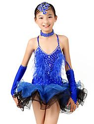 Vestidos (Royal Blue , Elastano , Dança Latina) - de Dança Latina - Mulheres/Crianças