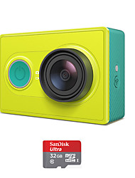 Xiaomi xiaoyi 1080p 16MP CMOS câmera filmadora esportes / wi-fi / bluetooth 4.0 - verde (tf 32gb)