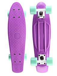 Classic Plastic Skateboard 22 inch Mini Cruiser with Abec-7 Bearings 60mm 78A Wheels