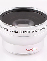 37mm 0.45X Wide Angle Lens With Macro Lens Accessory for Sony HD1000C HDR-XR500E 520E Nikon Canon Caliber Camera