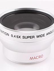 37 millimetri 0.45x obiettivo grandangolare con accessorio obiettivo macro per sony hd1000c hdr-xr500e 520E nikon canon fotocamera calibro