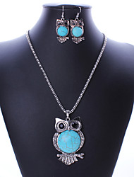 (Earrings&Necklaces&) Gemstone Jewelry Sets  Green