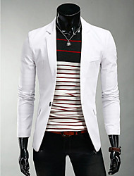 fiery Men's V-Neck Suits & Blazers , Cotton Blend Long Sleeve Casual Flower Winter
