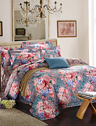 Antibacterial Breathable Cotton Bamboo Fiber Fabric Bedding Four Pieces