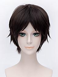 Perruques de Cosplay Attack on Titan Eren Jager Marron Court Anime Perruques de Cosplay 30 CM Fibre résistante à la chaleurMasculin /