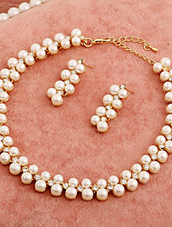 Women's Imitation Pearl Wedding Jewelry Set