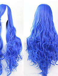 Cosplay Blue Fashion Must-have Girl High Quality Long Curly Hair Wig