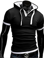 playgame Men's Casual Round Short Sleeve T-Shirts