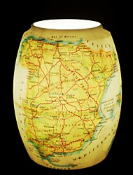 Spain Map Pattern Table Lamp