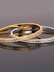 U7 Cute Bangle Bracelet 18K Real Gold Platinum Plated SWA Rhinestone Fashion Jewelry for Women High Quality