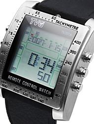 Мужские часы TV DVD пульт дистанционного управления смотреть функциональные спортивные часы силиконовый ремешок военные наручные часы