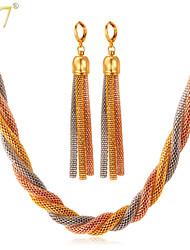 Collares/Pendientes ( Legierung/Chapado en Oro Rosa/Chapado en Oro )- Cosecha/Bonito/Fiesta/Trabajo/Casual para Mujer