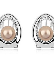 Women's Pearl/Alloy Stud Earrings With Pearl/Rhinestone(More Color)