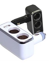 shunwei® automobile 90 angle plier adaptateur allume-cigare une sortie USB 12v-24v conduit