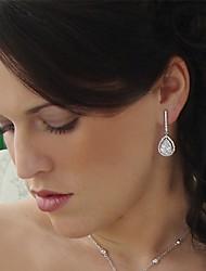 Big Rhinestones Drop Long Vintage Dangle Brides Bridesmaids Wedding Party Earring
