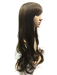 Fashion ombre celebrity wig wavy synthetic wigs for black women cheap two-tone big wave female cosplay wig