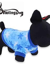 Hunde / Katzen T-shirt Blau Winter Schneeflocke