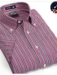 U&Shark Casual&Dress Men's 100% Fine Cotton Short Sleeve Shirt  by American Wahsing/DCSX-008
