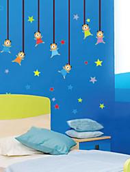 parede adesivos de parede decalques, Urso e estrelas pvc adesivos de parede
