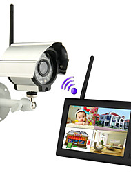 "neue Wireless 4-Kanal-DVR 1 Quad-Kameras mit 7 ""TFT-LCD-Monitor Home Security System"