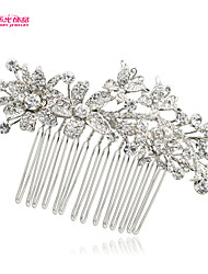 Neoglory Jewelry Flower Hair Comb with Clear Rhinestone and Alloy for Lady/Bridal/Wedding/Party/Daily