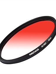 MENGS® Graduated RED Filter With Aluminum Frame For Canon Nikon Sony Fuji Pentax Olympus Etc Digital Camera
