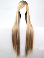Cosplay Hot Models High-quality Synthetic Wig 80cm High Temperature Wire Straight Hair light Brown Long Straight Hair
