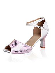Women's Dance Shoes Latin Leatherette Low Heel